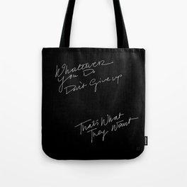 WHATEVER YOU DO /handtest/ Tote Bag