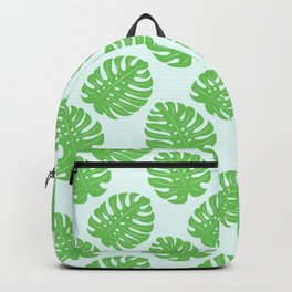 Monstera light pattern Backpack