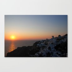 Santorini Sunsets Canvas Print