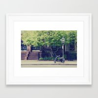 vespa Framed Art Prints featuring Vespa by thirteesiks