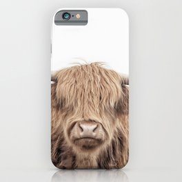 """Highland Cow """"This is Randall"""" Straight Up iPhone Case"""