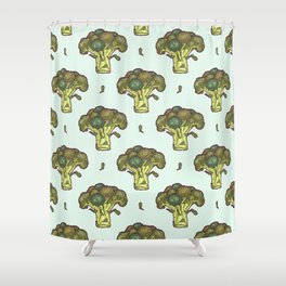 brilliant broccoli Shower Curtain