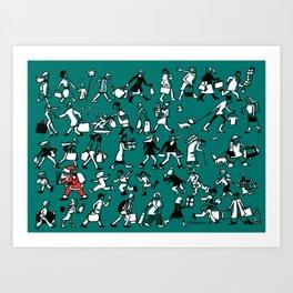 Christmas Rush Art Print