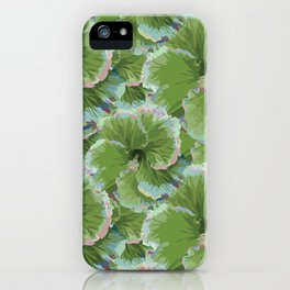 Cool Green Tropical Hibiscus Summer iPhone Case