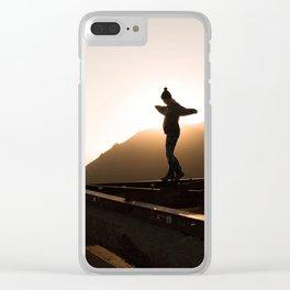 Sun Beam Clear iPhone Case