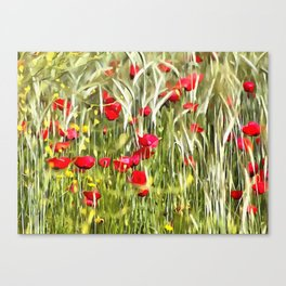 Red Corn Poppies Canvas Print