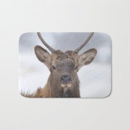 Watercolor Elk Juvenile 18, Estes Park, Colorado, You, Me, and the Breeze Bath Mat