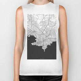 Montevideo Map Gray Biker Tank
