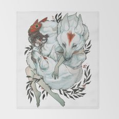 Wolf Child Throw Blanket