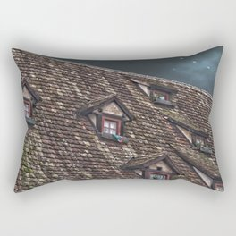 Roof of the Hotel oblique house Ulm Rectangular Pillow