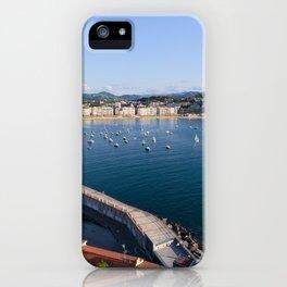 La Concha Bay. Donostia-San Sebastian, Spain. iPhone Case