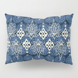 lotus diamond indigo Pillow Sham