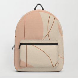 Hand Drawn Geometric Lines in Earthy Shades Backpack