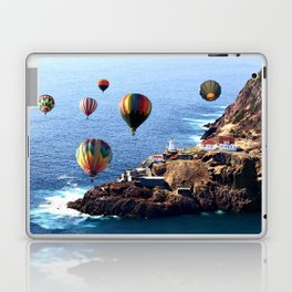 Flying Colorful Hot air Balloons over Newfoundland Laptop & iPad Skin