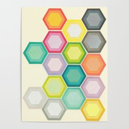 Honeycomb Layers Poster