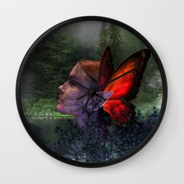 POND ELF Wall Clock