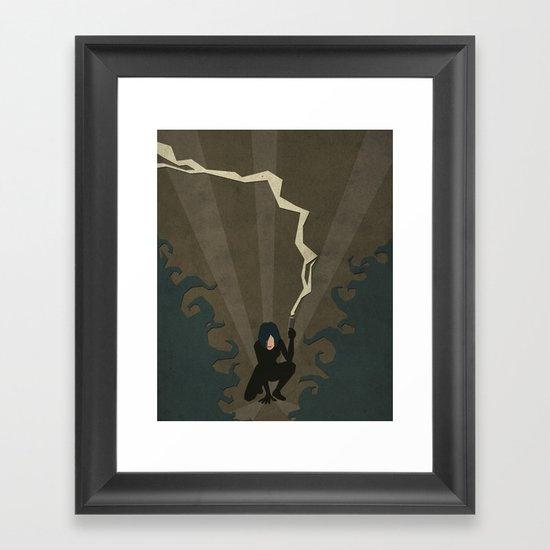 Paper Heroes - Selene Framed Art Print