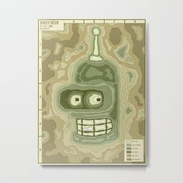 Popography: Bender Basin Metal Print