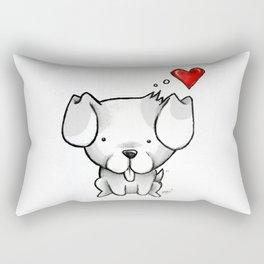 Cute Kawaii Puppy Dog Rectangular Pillow