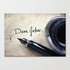 Dear John Canvas Print