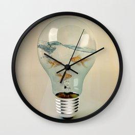 ideas and goldfish 03 Wall Clock