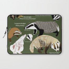 Badgers Meles Genus Poster Laptop Sleeve