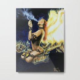 Incinerator Metal Print