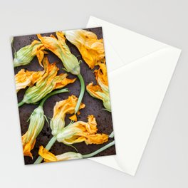 Zucchini Blossoms Stationery Cards
