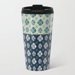 Vintage Tiles #society6 #pattern #indigo Travel Mug