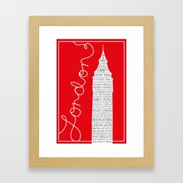 I MISS LONDON (Script) Framed Art Print