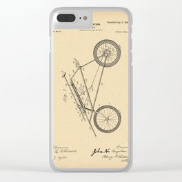 1898 Patent Bicycle Velocipede Clear iPhone Case