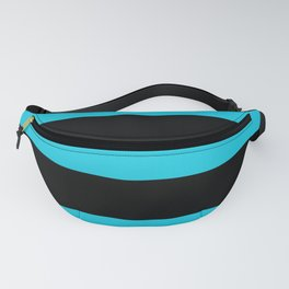 Hollywood Nights Black and Teal Stripes Fanny Pack