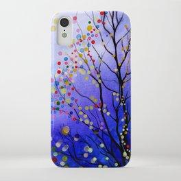 sparkling winter night sky iPhone Case