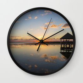 Gazebo at Sunset Wall Clock