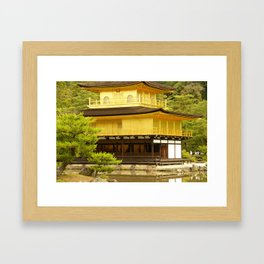 First sight of the Golden Pavilion Framed Art Print