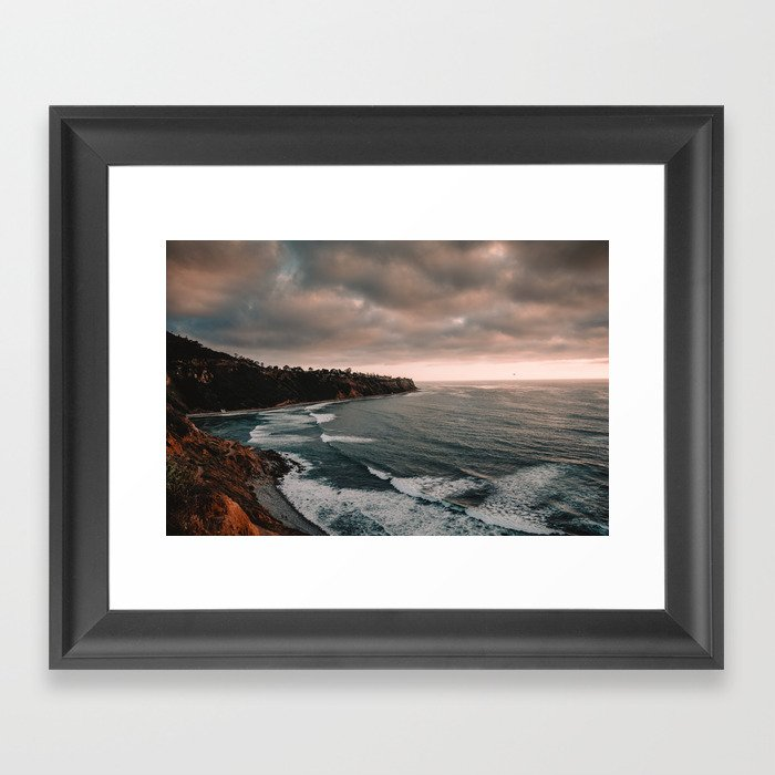 California Coastline Sunset Gerahmter Kunstdruck