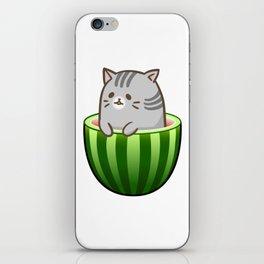 Melon Cat iPhone Skin