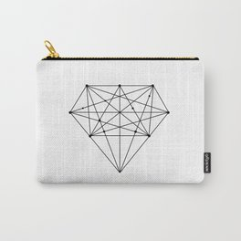 Geometric Diamond black-white poster design lowpoly fashion home decor canvas wall art Carry-All Pouch