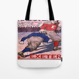 Vintage poster - Exeter vs. Andover College Football Tote Bag