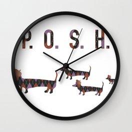 Posh Dachshund Family Wall Clock