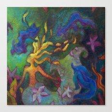 Hestia & The Mermaid PILLOW/SHOWER CURTAIN #B Canvas Print