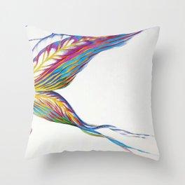 Iris Butterfly Throw Pillow