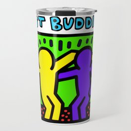 "Keith Haring inspired ""Best Buddies"" Complementary Color Y&P edition Travel Mug"