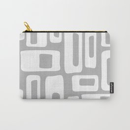 Retro Mid Century Modern Abstract Pattern 335 Gray Carry-All Pouch
