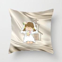 My Little Barefoot Bride Throw Pillow