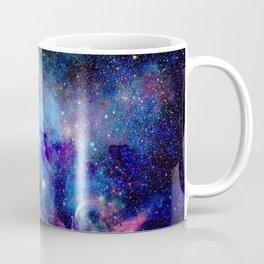 Blue Glitter Galaxy Coffee Mug