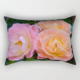 Three Portland Roses Rectangular Pillow