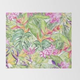 Tropical Garden 1A #society6 Throw Blanket