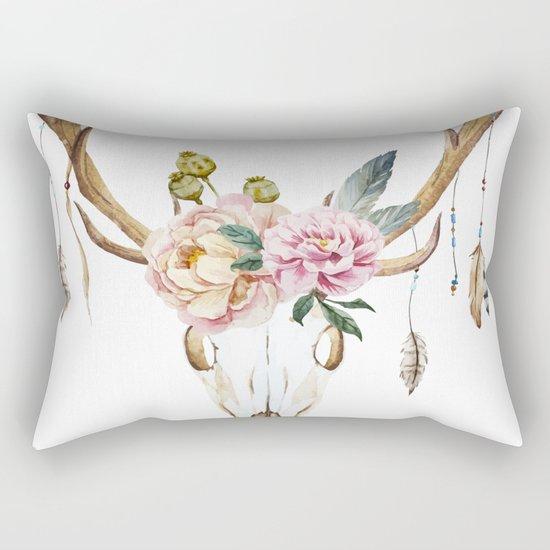 Animal Skull 09 Rectangular Pillow
