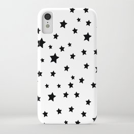 Black and White Stars iPhone Case